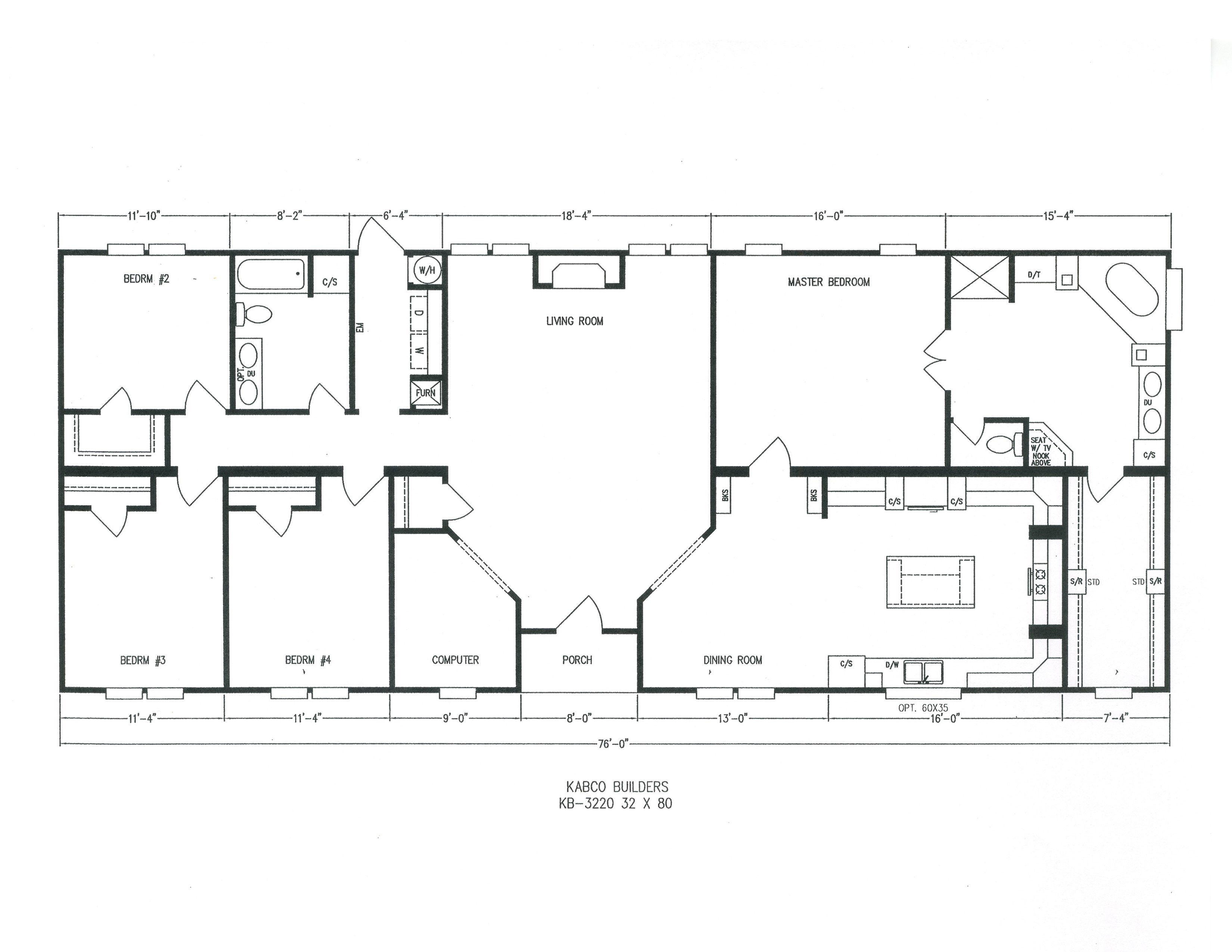 Kb 3220 kabco builders for Builders home plans