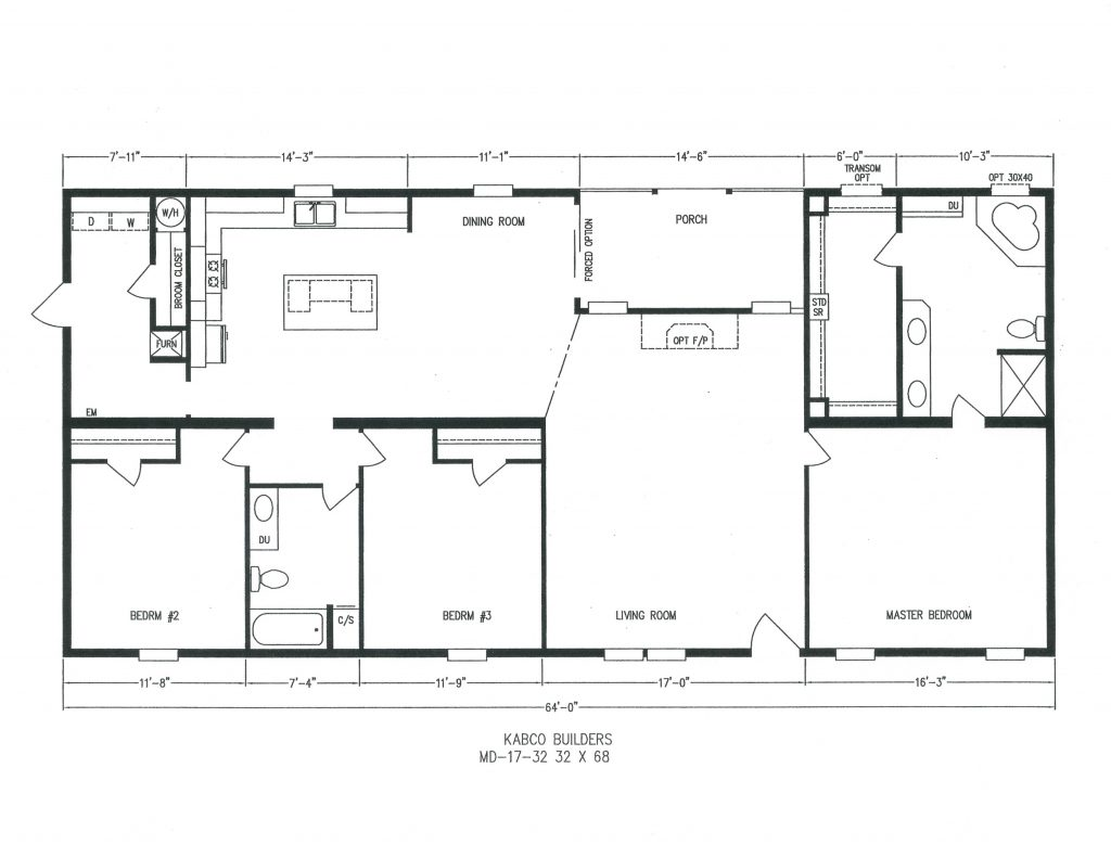 18x80 mobile home floor plans 18x80 best home and house